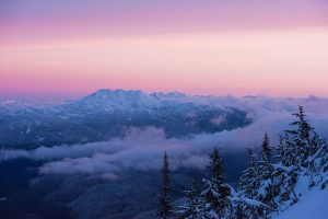 Mountain sunrise seen from Garibaldi Provincial Park